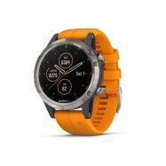 Garmin fenix5 Plus Sap. Titan.,Orange - 1